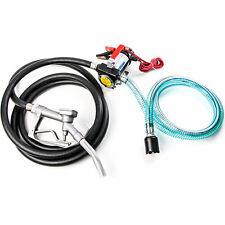 12v Diesel Kerosene Fuel Transfer Pump Suction Hose Fuel Pump Nozzle 12ft Hose