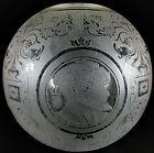 Antique Victorian GWTW Globe Ball Glass Lamp Shade Royalty, Dragon, Fish Motif