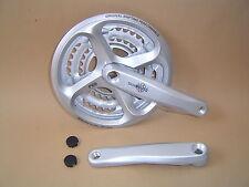 Shimano Tourney FC-M171-A Kurbel vierkant 48-38-28 Z Kettenschutz  Silber NEU