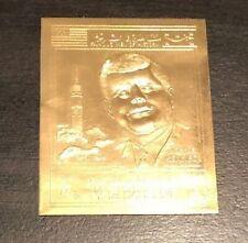 VINTAGE PRESIDENT JOHN F. KENNEDY APOLLO PROGRAM GOLD FOIL STAMP YEMEN NM NH HOF