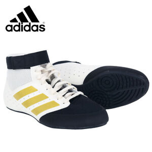 Adidas Mat Hog 2.0 Men's Boxing Shoes Training Wrestling White/Black FU8167