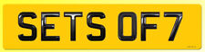 ONE Set of 7 Gel Domed HI LINE Number Plate Digits (Plates not included) 7 ONLY
