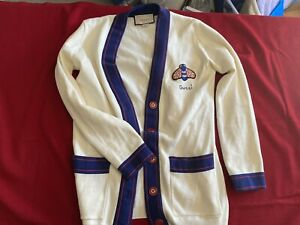 gucci button up sweater size S