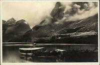 Olden Norwegen Norge alte AK ~1930 Liggende Nordfjord Fjord Schiff Embarqument