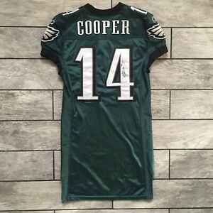 2010 Reebok NFL Game Used Autograph Jersey Riley Cooper Philadelphia Eagles 44