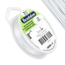 "Beadalon 7 Strand Flexible Wire 0.015"" (0.38mm) Dia. White 30ft (D77/1)"