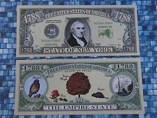NEW YORK ~<>~ Collectible $1,000,000 One Million Dollars ~ The Empire State 1788
