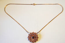 Anhänger mit Rubin Silberkette Rotgold vergoldet Silber 925,Halstuchhalter