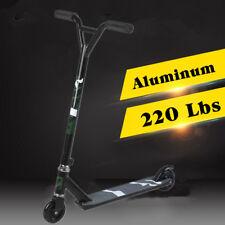 STEALTH BLACK Pro Style Aluminum Stunt Kick Scooter Skatepark BMX Handlebar X HT