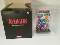 The Avengers 3D Comic Standee Captain America Marvel Loot Crate NEW Comic