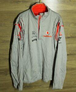 Vodafone McLaren Mercedes Benz F1 Formula One Silver 1/4  Zip Top Jacket XXL