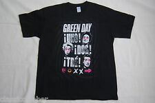 Green day uno dos tre petits visages cross yeux t shirt xl nouveau officiel billie joe