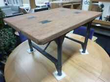 Compact Vintage Industrial Reclaimed Oak & Metal Coffee Table *Furniture Store*