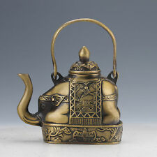 CHINESE COLLECTABLE BRASS HANDWORK ELEPHANT TEAPOTS