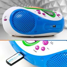 Kinder Zimmer Musik Anlage Netz Batterie Betrieb CD MP3 Player Radio Big Light