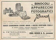 Z0827 Binocoli e Apparecchi Fotografici BUSCH - Pubblicità del 1929 - Advertis.
