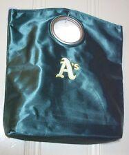 HandBag, Tote Bag OAKLAND A'S Green Satin White Yellow Stitched Logo RARE HTF @@