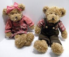 Russ Plush Teddy Bear Pair Serena & Fitzsimmons, Avon