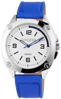 Aerostar Herrenuhr Weiß Blau Analog Metall Leder Quarz Armbanduhr X211022100008