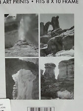 "Set of 4 Rare Rock Formations Art Prints Fits 8""x10"" Frame"