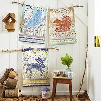 """Ulster Weavers 29.1"""" x 18.9"""" Woodland Hare Cotton Tea Towel Deluxe Vintage"""