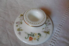 A BEAUTIFUL WEDGWOOD FLORAL TULIP CANDLESTICK MIRABELLE 3.5 cm high,FREE U.K.P&P