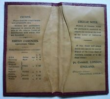 More details for union bank of australia ltd  scarce wallet for circular notes morocco leather