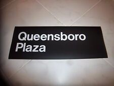 R32 NYC SUBWAY SIGN QUEENSBORO PLAZA 2 LINE LARGE 22X8 QUEENS NY ART ROLL SIGN