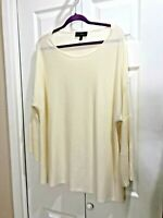"""NWOT Lane Bryant Women's Plus 22 24 IVORY pullover Sweater bell LSleeve 52x30"""""""