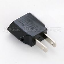 1pc Plug Adapter 110 Male to 220 Female Europe to USA