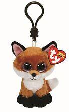 SLICK FOX - Ty Beanie Boos Keyring Key Clip - Plush Boo Babies Toy Teddy