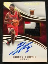 2016 BOBBY PORTIS IMMACULATE COLLECTION ROOKIE CARD 6/99 3 COLOR PATCH AUTO RC