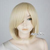 Lolita Light Blonde Short 35CM Bob Fashion Party Women Cosplay Wig + Wig Cap