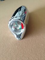 "Bicycle Headlight Retro Vintage Streamline CHROME  9.5""  Columbia Schwinn ELGIN"