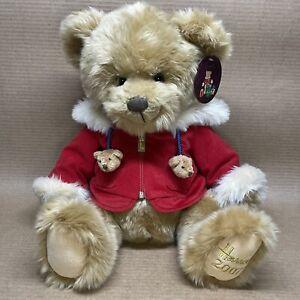 Harrods Collectible Christmas Bear Plush 2007 Benjamin Holiday 14'' w/Tags