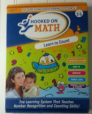 Hooked on Math Learn to Count Essentials Edition Ages 3-5 New in Open Box~ Flaw