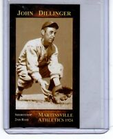 John Dillinger '24 Martinsville rookie played pro ball before he robbed banks 🔥