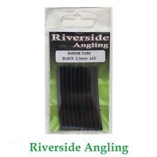 Heat Shrink Tube Black 2.5mm x10 Ronnie Rigs Sleeves Hooks Carp Fishing Pike
