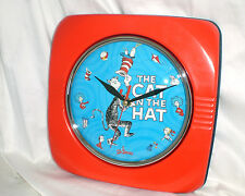 Dr Seuss Cat In The Hat Metal Wall Clock Vandor New Boxed Never Used