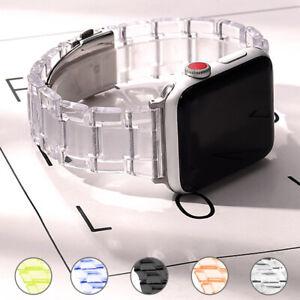 Annex Wristbelt Transparent Strap Watch band For Apple Series 6 SE 5 4 3 Iwatch