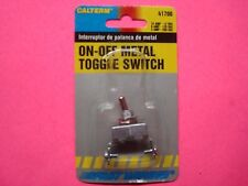 "41700 TOGGLE ROCKER SWITCH ON/OFF METAL 1/2"" HOLE SIZE AC/DC CALTERM IN PACKAGE"