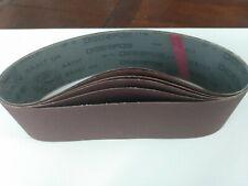 "New listing Deerfos, 4""x24"" Sanding Belts, Alum Oxide. 6 pcs: 60/80/100/120/150/220 grits"