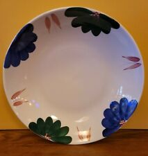 """Vintage Roma Inc Hand Painted Floral Large Serving Bowl Italy 13"""""""