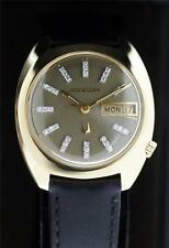 Bulova Accutron 14K Solid Gold With Diamond tic Dial Day-Date N2 Watch
