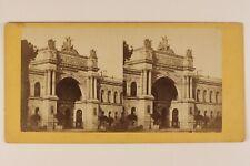 PARIS Palais de l'Industrie Exposition universelle FRANCE Photo Stereo Albumine