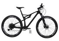 """Carbon Mountain Bike Sram SX 29er Full Suspension Frame Fork Shock 17.5"""" M 12s"""