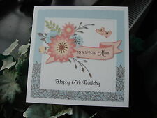 Personalised Handmade Birthday Card - Female 50th, 60th, 70th, 80th any age