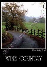 Wine Country Rural Valley Road Unused  Post Card