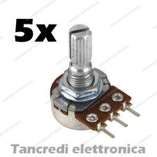 5 Potenziometro 100K Monogiro Lineare Trimmer - Potentiometers B100K perno 15 mm