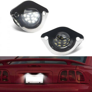 For 1994-2004 Ford Mustang GT BRIGHT Replacement Bumper License Plate Light L+R